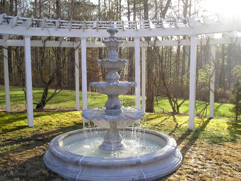 4 Tier Renaissance Fountain in Toscano Pool