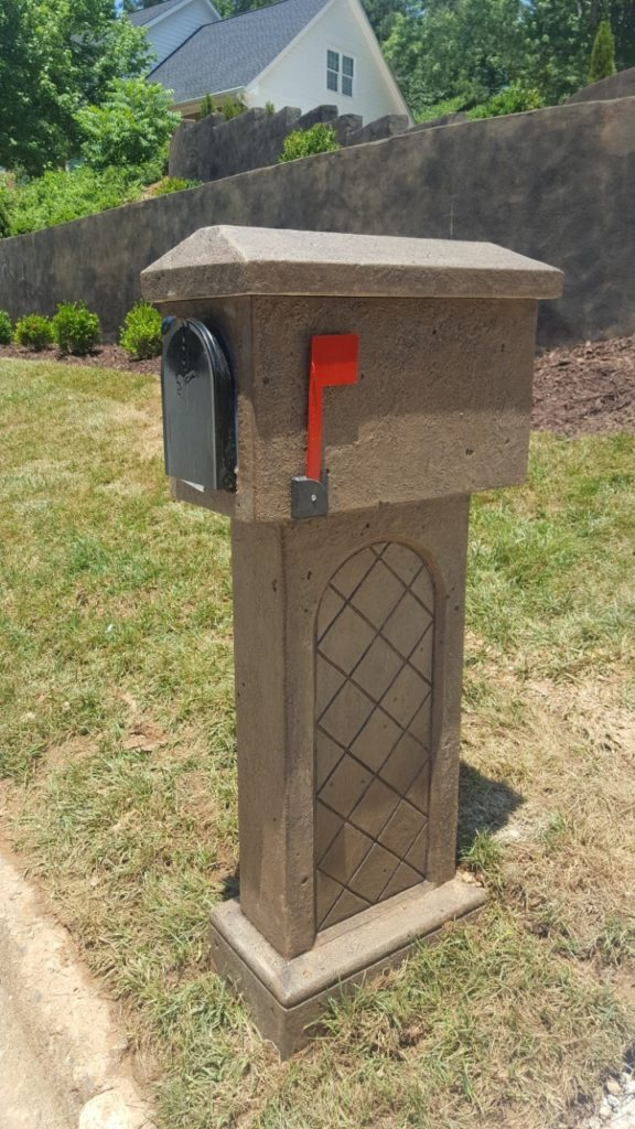 Concrete Mailbox Tiled Design