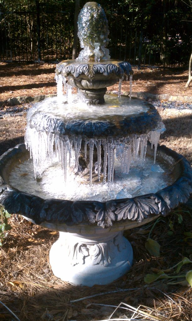 Frozen New Orleans Fountain