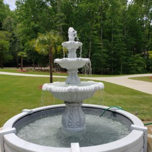 3 Tier Italian Fountain in 9' Pool