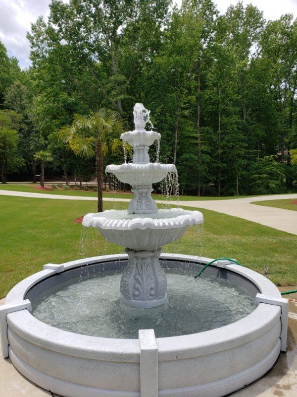3 Tier Italian Fountain in 9' Pool