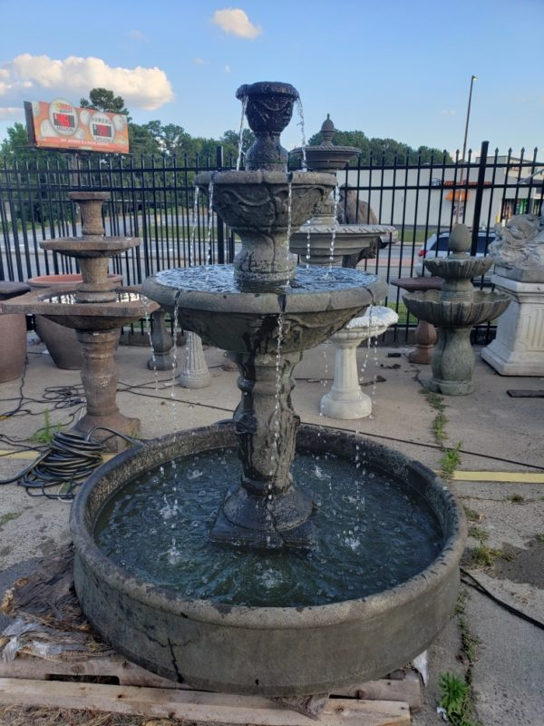 3 Tier Cortona Fountain in Pool
