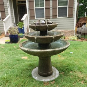 3 Tier Tranquility Bird Fountain