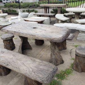 Banyon Wood Table Set