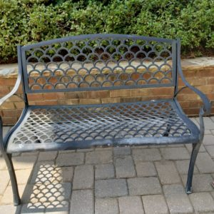 Cast Aluminum Lattice Bench