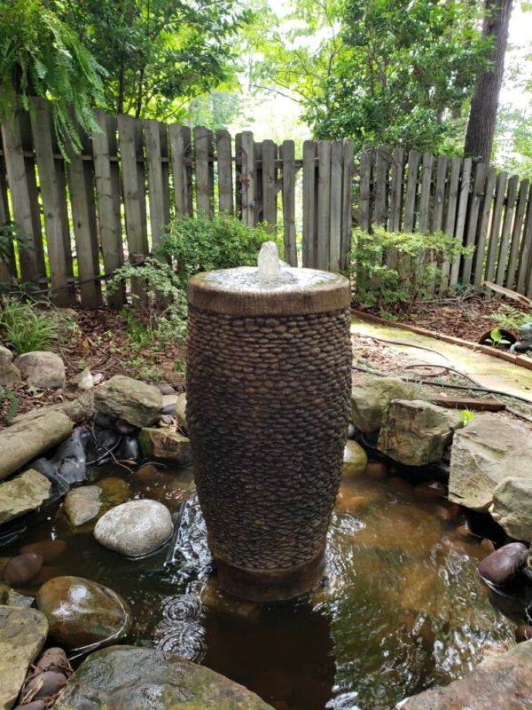 Shimmering Stone Fountain