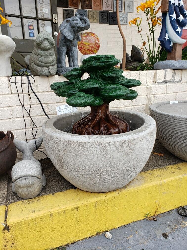 4 Seasons Pottery Bonsai Fountain