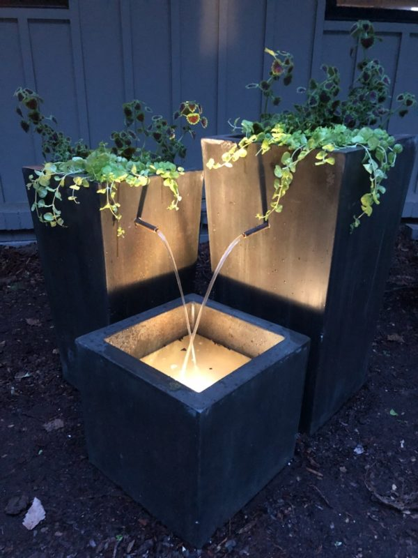 3 Cubed Planter Fountain